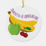 Smoothie Operator Ceramic Ornament