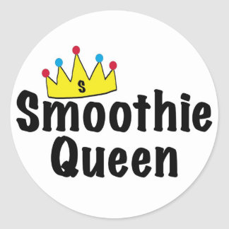 Smoothie Queen Classic Round Sticker