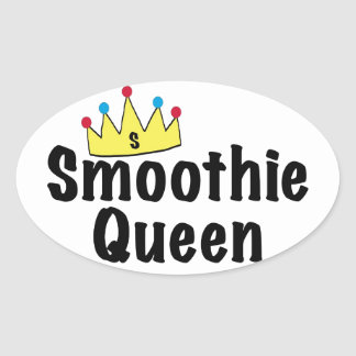 Smoothie Queen Oval Sticker