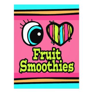 """Smoothies brillantes de la fruta del amor del cora folleto 8.5"""" x 11"""""""