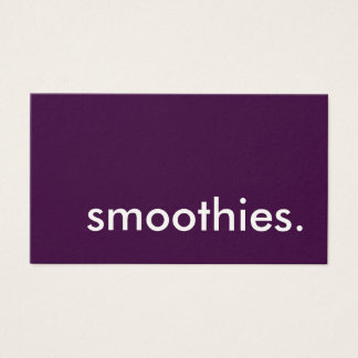 smoothies. loyalty punch card
