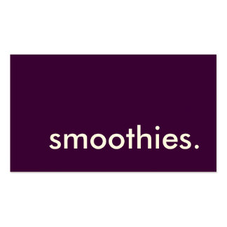 smoothies. loyalty punch card business card