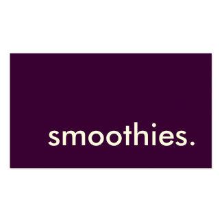 smoothies. tarjeta de sacador de la lealtad tarjetas de visita