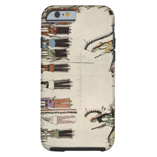 'Smoothing the Place Dance' (ink on paper) Tough iPhone 6 Case