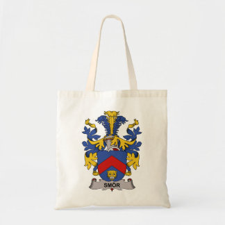 Smor Family Crest Tote Bags