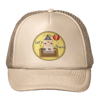 Smore 7th Birthday Gifts Trucker Hat
