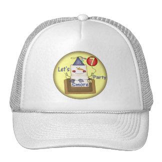 Smore 7th Birthday Gifts Trucker Hat