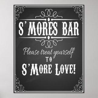 S'More Bar chalkboard wedding party print