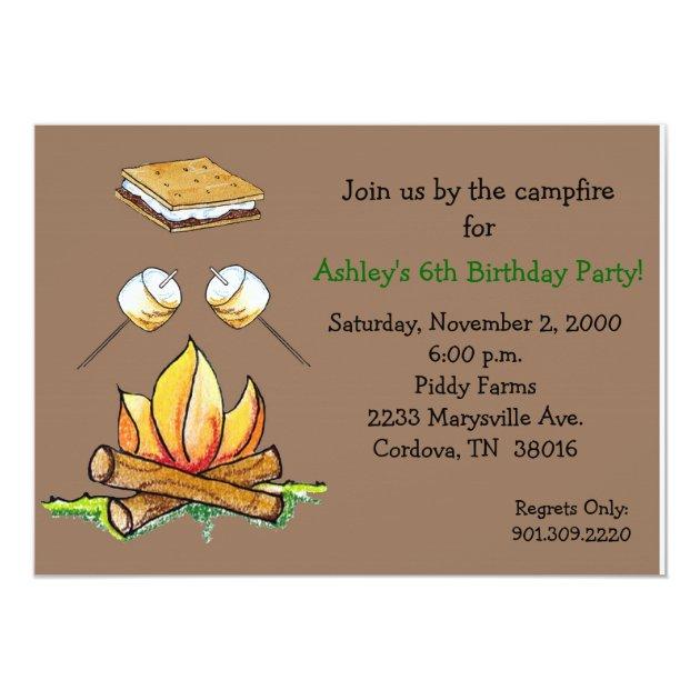 Personalized Smore Invitations