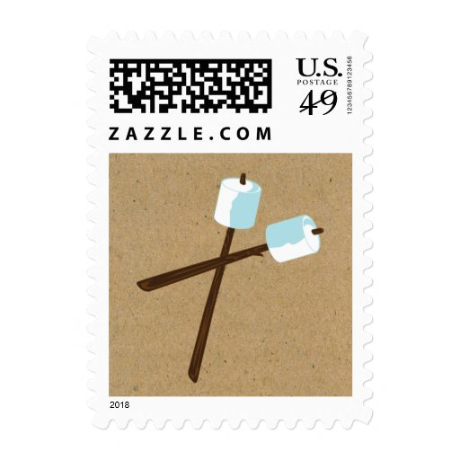 S'more Camping Marshmellow Party Postage