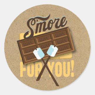 S'more for You Camp Fire Favor labels Bonfire