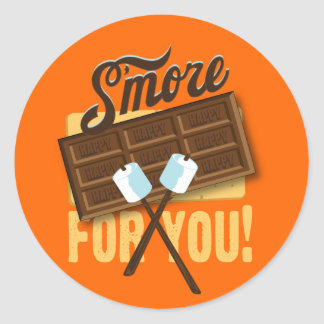 S'more for You Campfire & Bonfire Favors Classic Round Sticker
