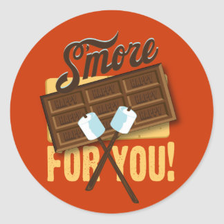 S'more for You Campfire & Bonfire Favors Stickers