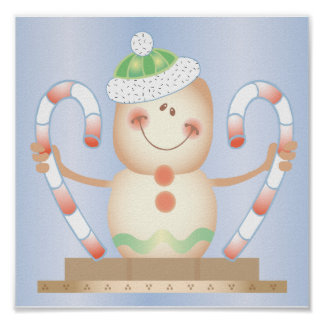 Smore_Gingerbread_Man_and_Candycane_ WINTER HAPPY Poster