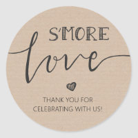 s'more Love Wedding favor tag Sticker Gift tag
