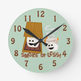 Smore or Less! Round Clock