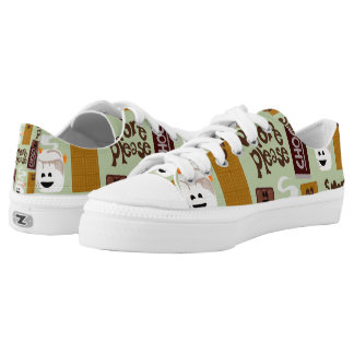 Smore Please Cute Smores Pattern Low-Top Sneakers