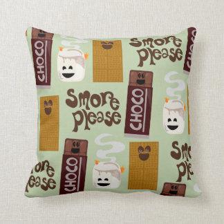 Smore Please Smore Ingredients Pattern Throw Pillow