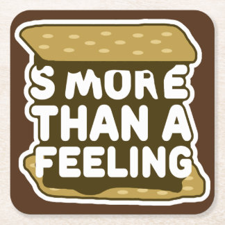 S'more Than a Feeling Square Paper Coaster