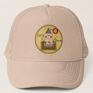 Smores 4th Birthday Gifts Trucker Hat