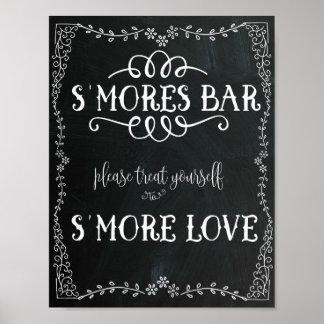 S'Mores Bar Sign Wedding Decor Poster