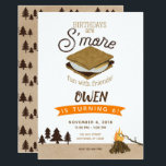 "S'mores Camping Fun with Friends Birthday Invitation<br><div class=""desc"">S'mores Camping Fun with Friends Birthday Invitation</div>"