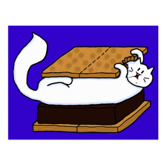 S'mores Cat Postcard