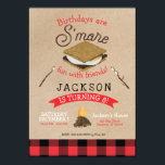 "S'mores Fun with Friends Flannel Birthday Invitation<br><div class=""desc"">S'mores Fun with Friends Flannel Birthday Invitation</div>"