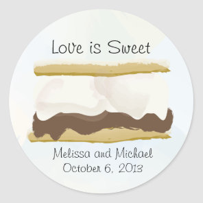 Smores Love Is Sweet Classic Round Sticker
