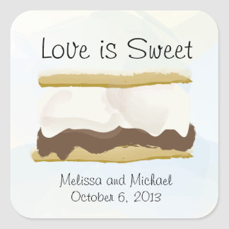 Smores Love Is Sweet Square Sticker