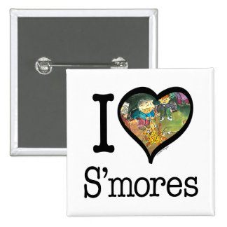 S'mores Lover 2 Inch Square Button