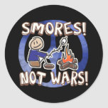 S'mores Not Wars Classic Round Sticker