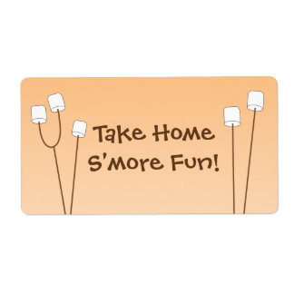 S'mores party favor bag tag