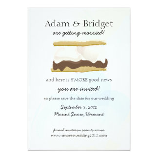 S'mores Save the Date Card