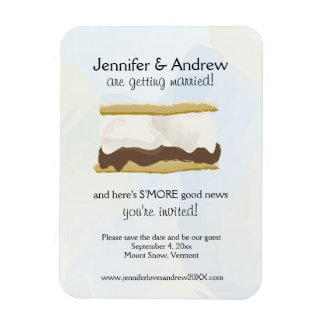 S'mores Save the Date Magnet