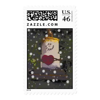 S'mores Snowman Postage 2 stamp