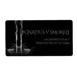 SMOULDER Noir Black Dragon Smoke Label