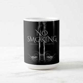 SMOULDER Noir Dragon 'No Smoking' Custom Coffee Mug