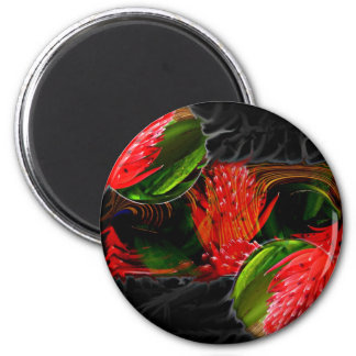 Smouldering Beauty 2 Inch Round Magnet