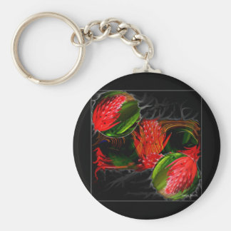 Smouldering Beauty Basic Round Button Keychain