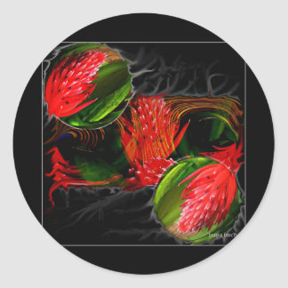 Smouldering Beauty Classic Round Sticker