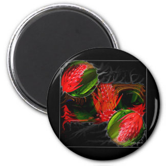 Smouldering Beauty Refrigerator Magnets