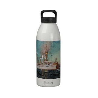 SMS Kaiserin Augusta leaving New York by Saltzmann Water Bottle