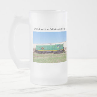SMS Railroad Lines Baldwin AS616 # 554 16 Oz Frosted Glass Beer Mug