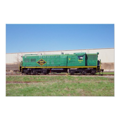 SMS Railroad Lines Baldwin AS616 # 554 Poster