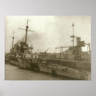 SMS Seydlitz After Jutland Poster