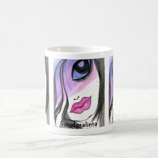 Smudgealiena - gótico grande-observado manchado/ch tazas de café