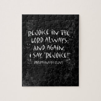 Smudged Blackboard Rejoice In The Lord Verse Jigsaw Puzzle
