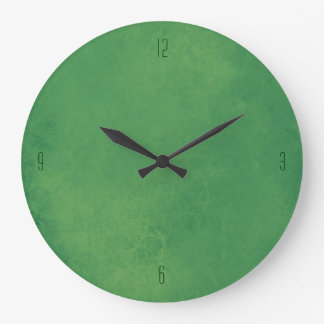 Smudged Green Clock