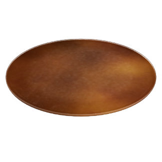 Smudged Orange Cutting Board